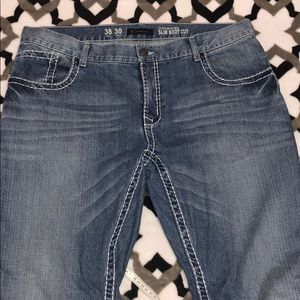 NWOT Men's INC Lightwash Slim Bootcut Jeans